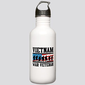 Vietnam War Veteran Stainless Water Bottle 1.0L