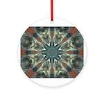 Glass Boomerang Round Ornament