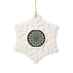 Glass Boomerang Snowflake Ornament
