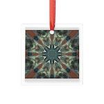 Glass Boomerang Square Glass Ornament