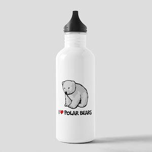 I Love Polar Bears Stainless Water Bottle 1.0L