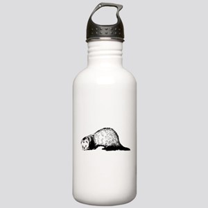 Hand Sketched Ferret Stainless Water Bottle 1.0L