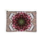 Floral Food on Paper Plates Makeup Bag