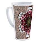 Floral Food on Paper Plates 17 oz Latte Mug