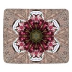 Floral Food on Paper Plates Sherpa Fleece Throw Bl
