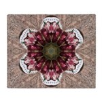 Floral Food on Paper Plates Throw Blanket