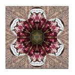 Floral Food on Paper Plates Tile Coaster