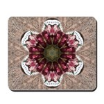 Floral Food on Paper Plates Mousepad