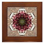 Floral Food on Paper Plates Framed Tile