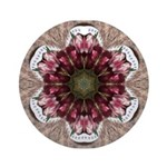 Floral Food on Paper Plates Round Ornament