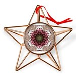 Floral Food on Paper Plates Copper Star Ornament