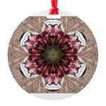 Floral Food on Paper Plates Ornament