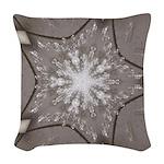 Ice Diamonds Woven Throw Pillow