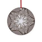 Ice Diamonds Round Ornament