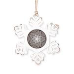 Ice Diamonds Rustic Snowflake Ornament
