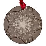Ice Diamonds Maple Round Ornament