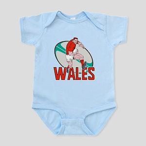 welsh rugby player Infant Bodysuit