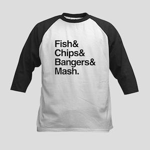 Fish & Chips Kids Baseball Jersey