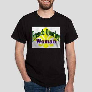 French Quarter Woman Black T-Shirt