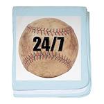 24/7 Baseball baby blanket
