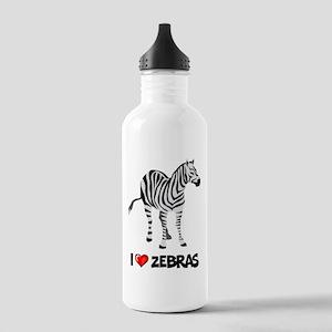 I Love Zebras Stainless Water Bottle 1.0L