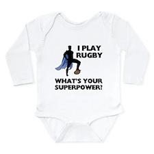 Rugby Superhero Long Sleeve Infant Bodysuit