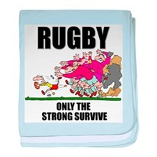 Only The Strong Rugby baby blanket