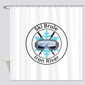 Ski Brule - Iron River - Michigan Shower Curtain