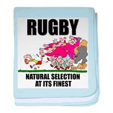 Natural Selection Rugby baby blanket