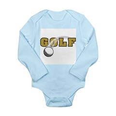 Golf Nuts Long Sleeve Infant Bodysuit