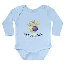 Let It Roll Bowling Long Sleeve Infant Bodysuit