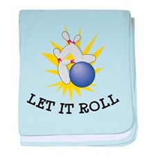 Let It Roll Bowling baby blanket