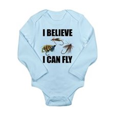 I Believe I Can Fly Long Sleeve Infant Bodysuit