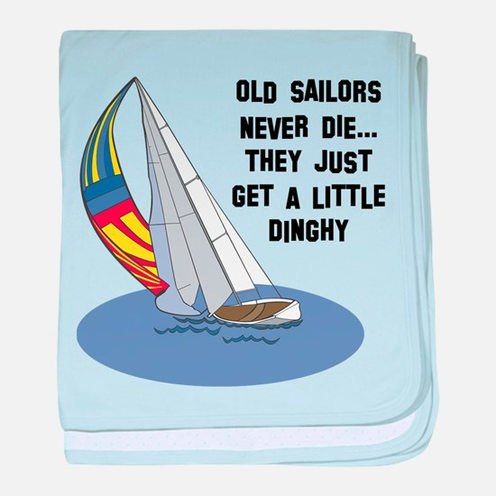 Old Sailors Never Die baby blanket