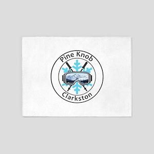 Pine Knob Ski Resort - Clarkston 5'x7'Area Rug
