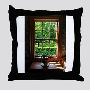 Colonial Cottage Window Throw Pillow