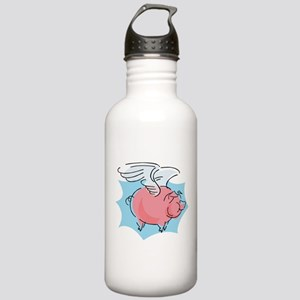 Cute Flying Pig Stainless Water Bottle 1.0L