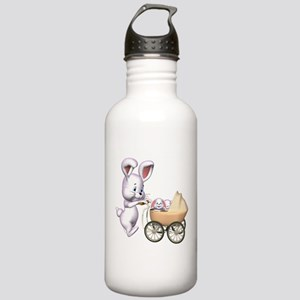 Cute 3D Rabbits Stainless Water Bottle 1.0L