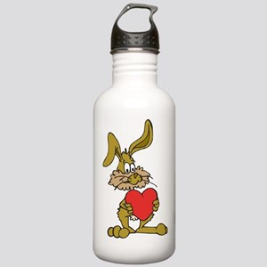 Rabbit With Heart Stainless Water Bottle 1.0L