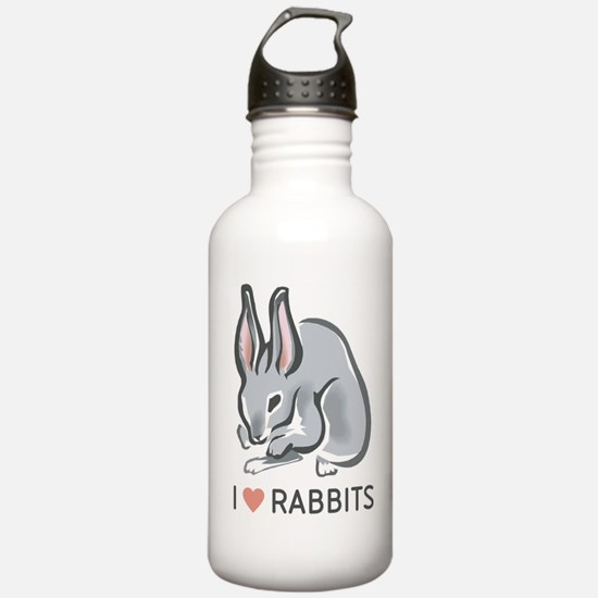I Love Rabbits Water Bottle