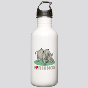 I Love Rhinos Stainless Water Bottle 1.0L
