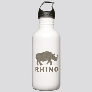 Vintage Rhino Stainless Water Bottle 1.0L