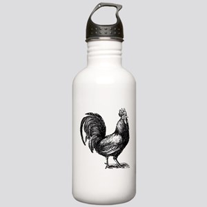Hand Sketch Rooster Stainless Water Bottle 1.0L