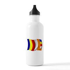 Wavy Buddhist Flag Water Bottle