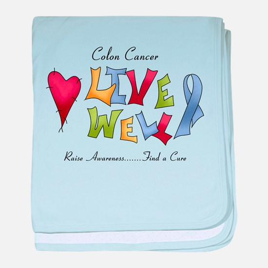 Colon Cancer (lw) baby blanket