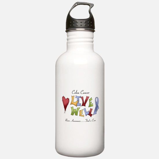 Colon Cancer (lw) Water Bottle