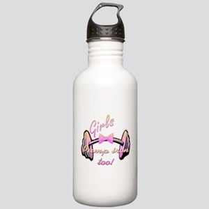 Girls pump iron too! Stainless Water Bottle 1.0L