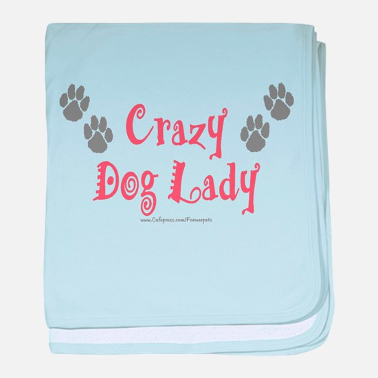 Crazy Dog Lady baby blanket