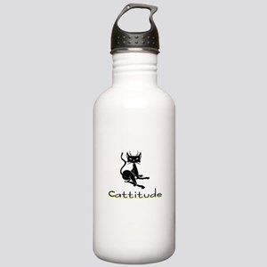 Cattitude Stainless Water Bottle 1.0L