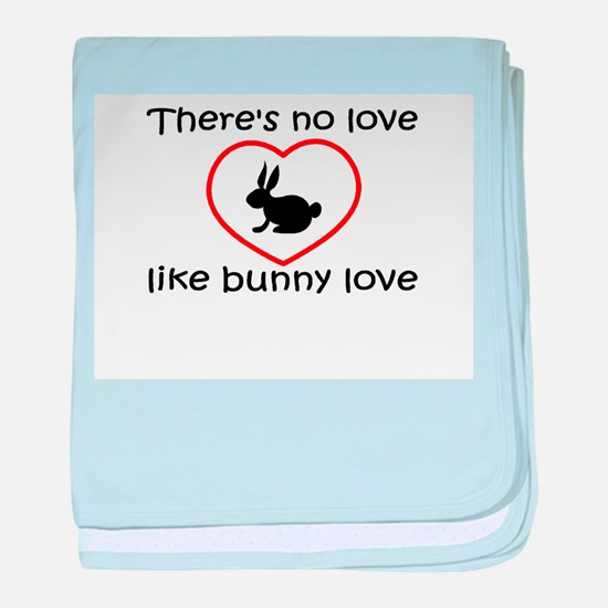 Bunny Love baby blanket